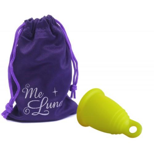 MeLuna Soft žlutý vel. XL ring menstruační kalíšek