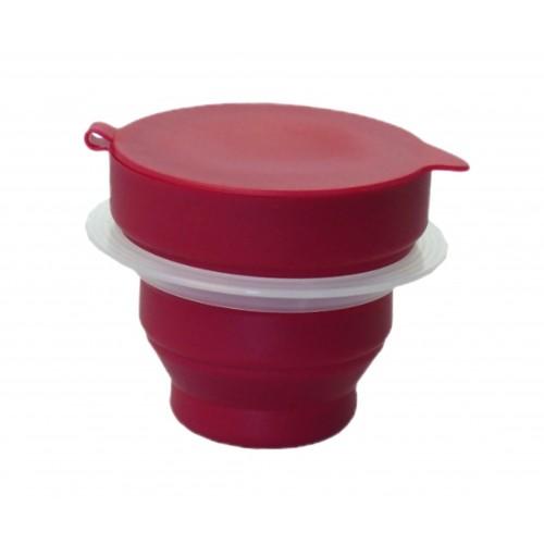 Sterilizační kelímek s ochranným kroužkem, skládací pohár pro sterilizaci menstruačních kalíšků