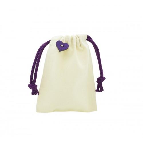 Dekorativní pytlíček z organické bavlny fialový