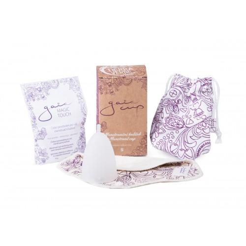 Gaia cup – menstruační kalíšek + slipová vložka a čistící prášek velikost S
