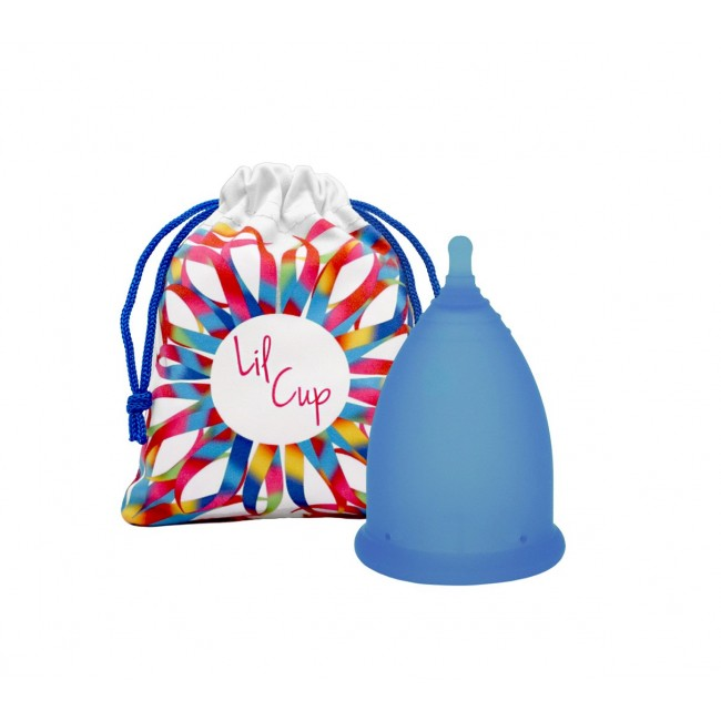 LilCup Joy Mid 1 menstruační kalíšek modrý