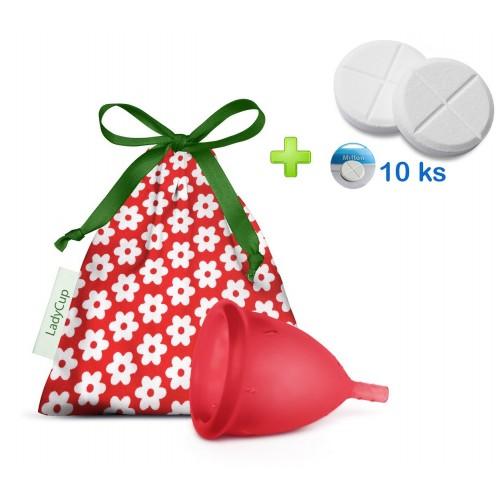 LadyCup menstruační kalíšek Divoká třešeň L + tablety 10ks