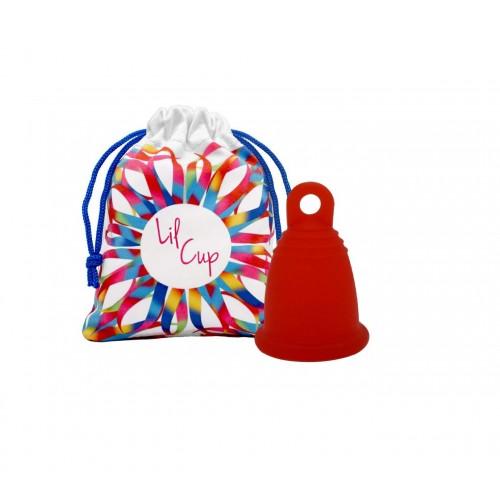 LilCup Rin menstruační kalíšek červený M