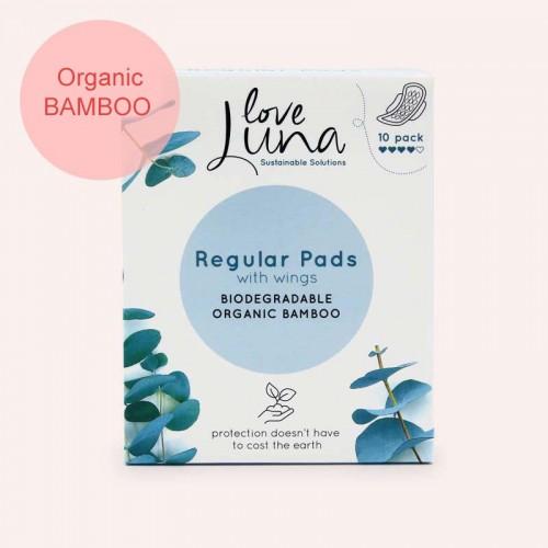 Love Luna  z organického bambusu Regular menstruační vložky 10ks