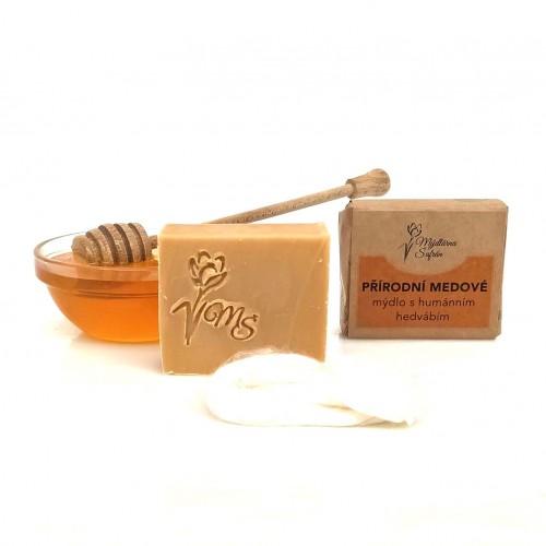 Přírodní medové mýdlo s humánním hedvábím