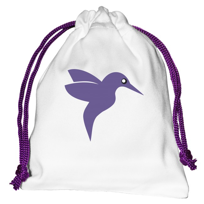 Dekorativní taštička/ pytlíček design ptáček na menstruační kalíšek či jiné předměty.