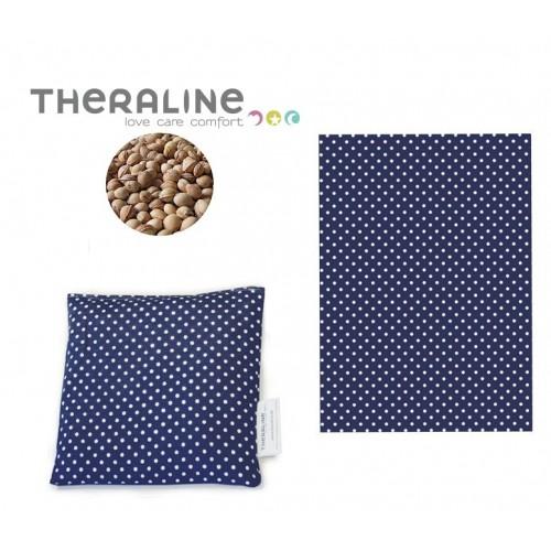 Theraline nahřívací/chladící polštářek z třešňových pecek modrý puntík