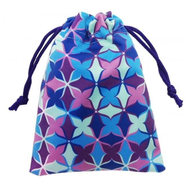Dekorativní taštička/ pytlíček design ByVik barevný na menstruační kalíšek či jiné předměty.