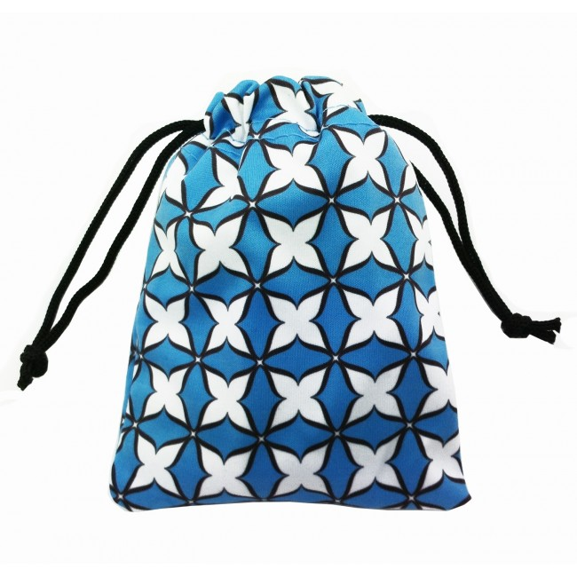 Dekorativní taštička/ pytlíček design ByVik modrý na menstruační kalíšek či jiné předměty.