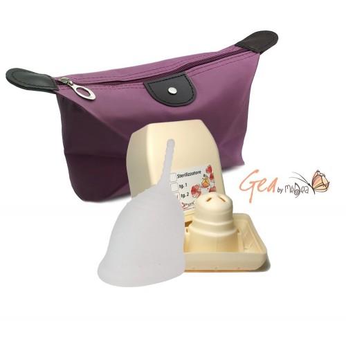 GeaCup 1 menstruační kalíšek se sterilizátorem