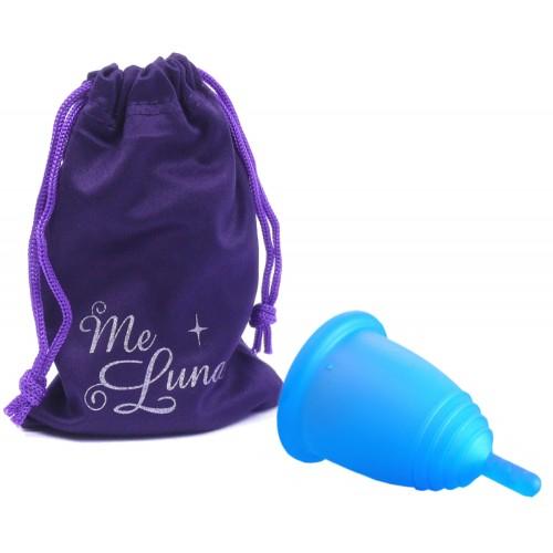 MeLuna Classic modrý vel. L stem menstruační kalíšek